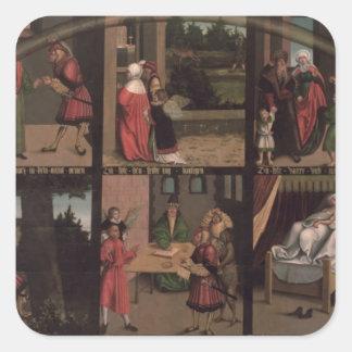 The Ten Commandments Square Sticker