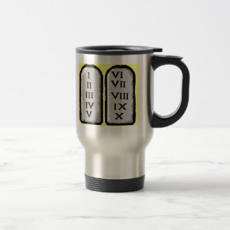 The Ten Commandments Stainless Steel Travel Mug, Stainless Steel Travel Mug