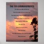 The Ten Commandments - Sunset #2 Poster