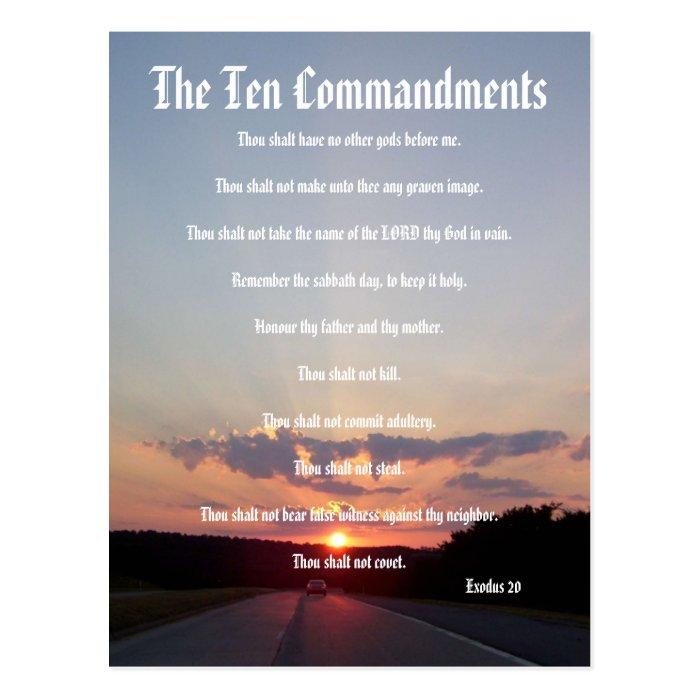 The Ten Commandments - Sunset #3 Postcard