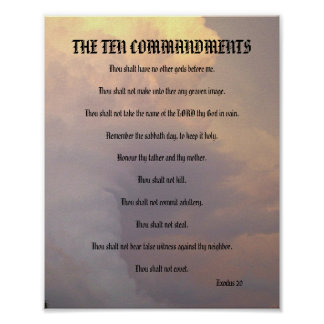 The Ten Commandments - Weather Clouds Poster