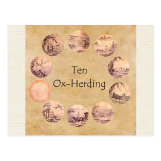 The Ten Oxherding Pictures Postcard