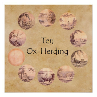 The Ten Oxherding Pictures Poster