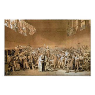 The Tennis Court Oath  1791 Poster