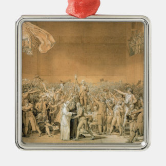 The Tennis Court Oath, 20th June 1789, 1791 2 Silver-Colored Square Decoration