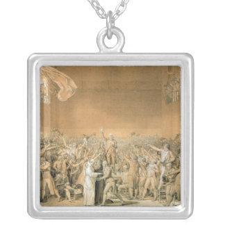 The Tennis Court Oath, 20th June 1789, 1791 2 Silver Plated Necklace