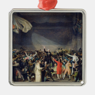 The Tennis Court Oath, 20th June 1789, 1791 Silver-Colored Square Decoration