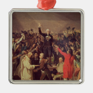 The Tennis Court Oath Silver-Colored Square Decoration
