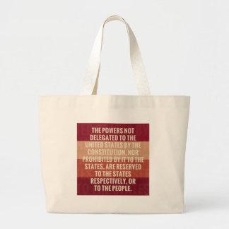 The Tenth Amendment Canvas Bags