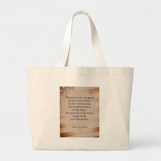 The Tenth Amendment Jumbo Tote Bag