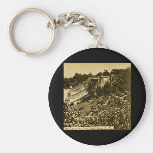 The Terrace in Central Park NYC Vintage 1900 Keychain