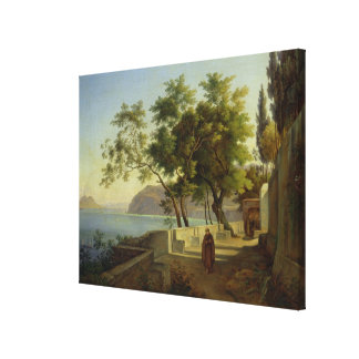 The Terrace of the Capucins in Sorrento, 1828 Canvas Print