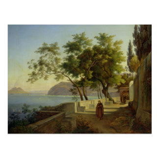 The Terrace of the Capucins in Sorrento, 1828 Postcard