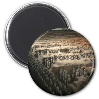 The Terracotta Army 6 Cm Round Magnet