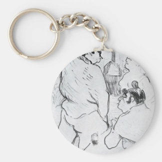 The Terror of the Grenelle Grenelle by Henri Basic Round Button Key Ring
