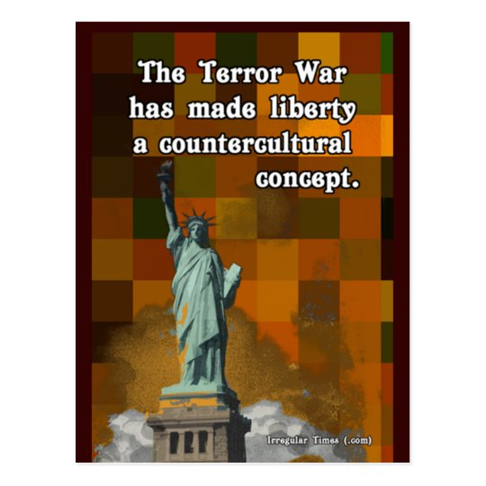 The Terror War and Countercultural Liberty Postcard