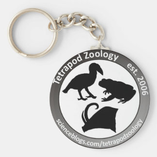 THE TETRAPOD ZOOLOGY LOGO BASIC ROUND BUTTON KEY RING