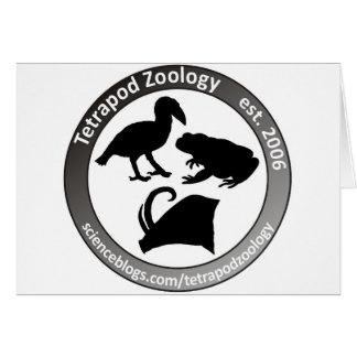 THE TETRAPOD ZOOLOGY LOGO GREETING CARD