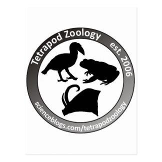 THE TETRAPOD ZOOLOGY LOGO POSTCARD