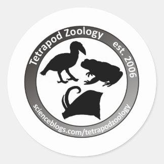 THE TETRAPOD ZOOLOGY LOGO ROUND STICKER