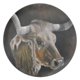 The Texas Longhorn 2 Plate