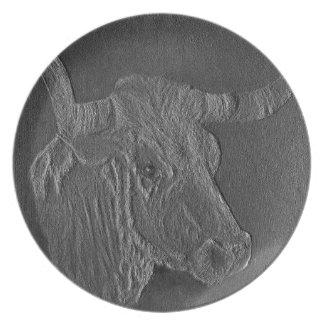 The Texas Longhorn 3 Plates