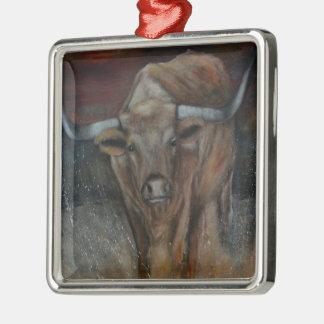 The Texas Longhorn Bull Christmas Ornament