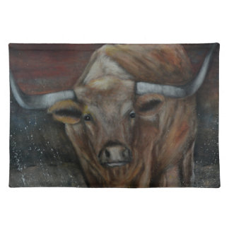 The Texas Longhorn Bull Placemat