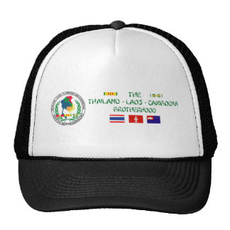 The Thailand-Laos-Cambodia Brotherhood Mesh Hats