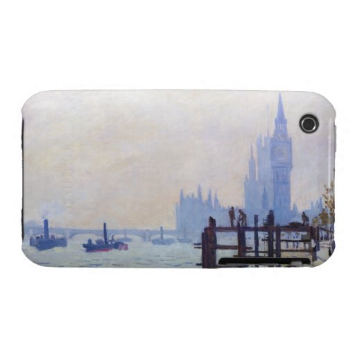 The Thames at Westminster Claude Monet iPhone 3 Covers