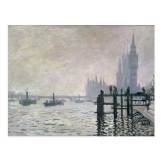 The Thames below Westminster 1871 Post Card