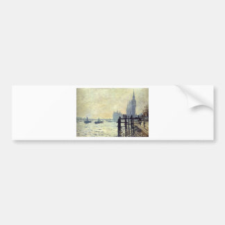 The Thames below Westminster by Claude Monet Bumper Sticker