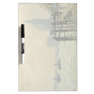 The Thames Below Westminster by Claude Monet Dry-Erase Board