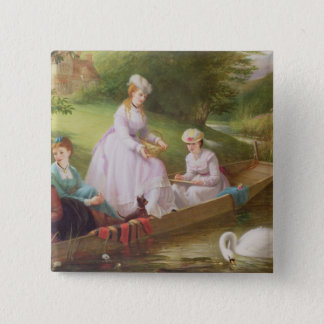 The Thames Swans 15 Cm Square Badge