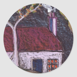 THE THATCHED COTTAGE CLASSIC ROUND STICKER