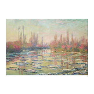 The Thaw on the Seine, near Vetheuil, 1880 Canvas Print