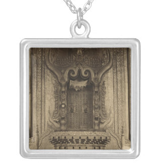 The The-ha-thana or the Lions' throne Silver Plated Necklace