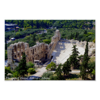 The theater of Herod Atticus - Athens Poster