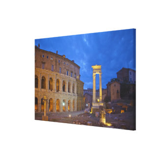 The Theater of Marcellus in Rome at night Canvas Print