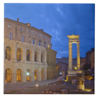 The Theater of Marcellus in Rome at night Tile