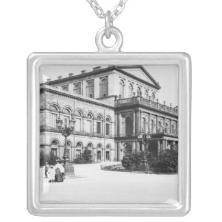 The Theatre at Hannover, c.1910 Silver Plated Necklace