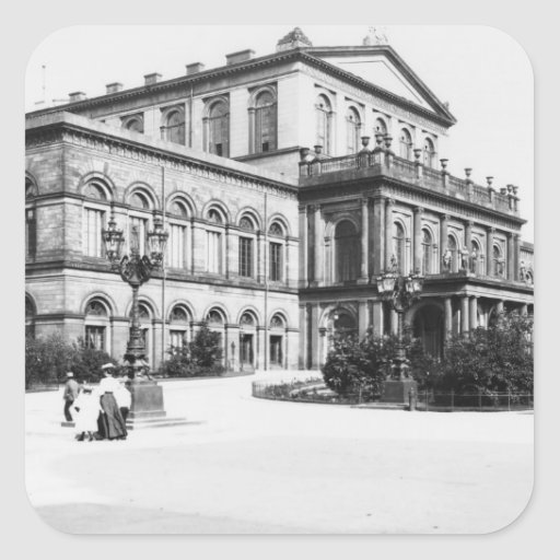 The Theatre at Hannover, c.1910 Square Sticker