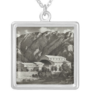 The Theatre at Oberammergau, 1930 Silver Plated Necklace