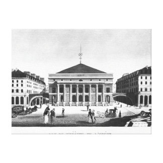 The Theatre de l'Odeon, c.1830 Canvas Print