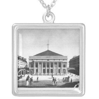 The Theatre de l'Odeon, c.1830 Silver Plated Necklace