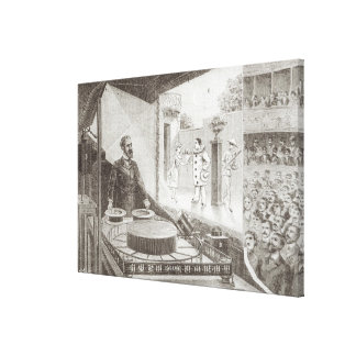 The 'Theatre Optique' and its inventor Canvas Print