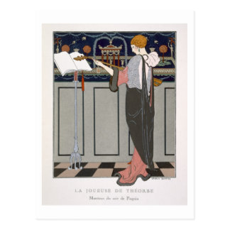 The Theorbo Player, design for an evening coat by Postcard