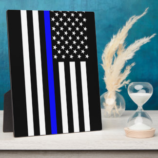 The Thin Blue Line American Flag Photo Plaques