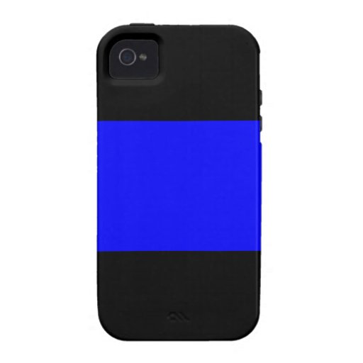 The Thin Blue Line Vibe iPhone 4 Cases