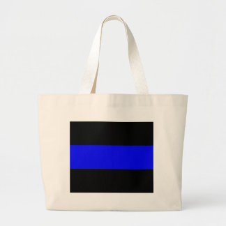 The Thin Blue Line Large Tote Bag